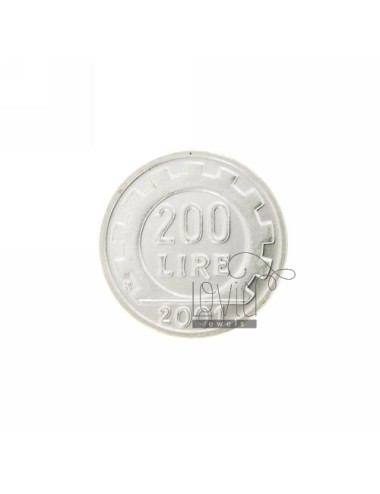 MONETA £ 200 ANNO 2001 DIAMETRO MM 25 IN ARG. TIT 925