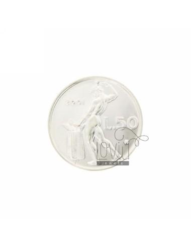 MONETA £ 50 ANNO 2001 DIAMETRO MM 25 IN ARG. TIT 925