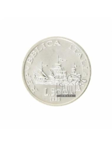 MONETA £ 500 ANNO 1958 DIAMETRO MM 30 IN ARG. TIT 925