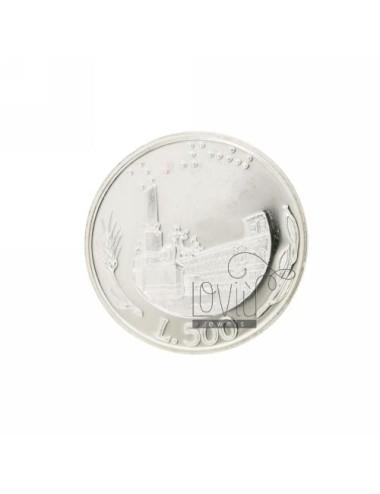 MONETA £ 500 ANNO 2001 DIAMETRO MM 30 IN ARG. TIT 925