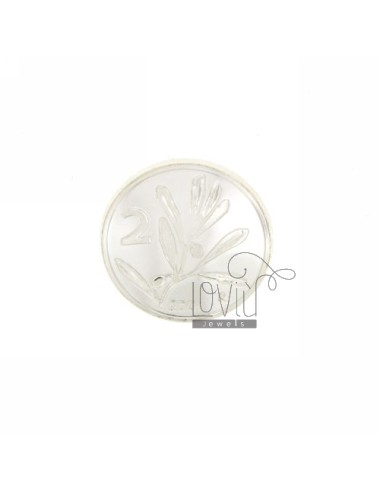 MONETA £ 2 ANNO 2001 CONCAVA DIAMETRO MM 22 IN ARG. TIT 925