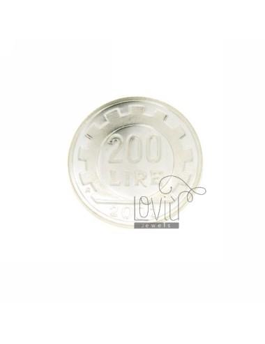 MONETA £ 200 ANNO 2001 CONCAVA DIAMETRO MM 25 IN ARG. TIT 925