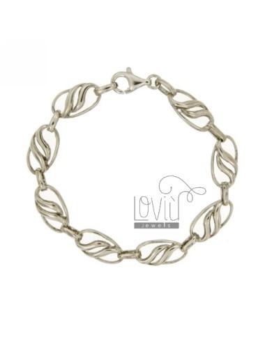 Bracelet rhodium silver...