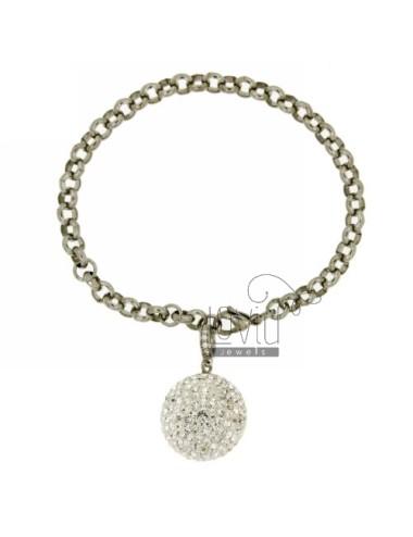 Rolo bracelet in steel with...