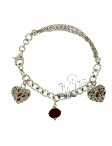 CABLE BRACELET WITH HEART...