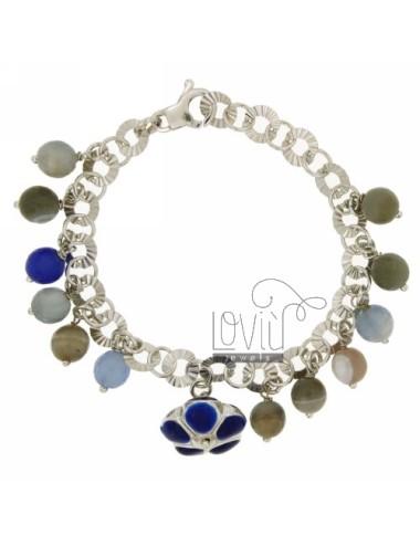 Flower bracelet with glazed...