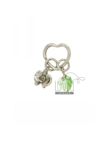 Keychain with heart brise...