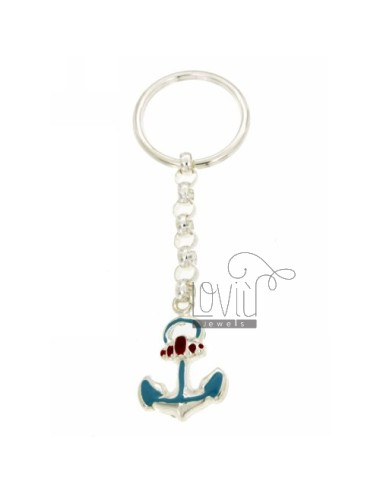 KEY RING AGAIN GLAZED WITH HOOK BRISE &39TIT SILVER 925