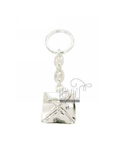 KEY RING WITH GRADUATION CAP MESH MARINA AND BRISE &39TIT SILVER 925
