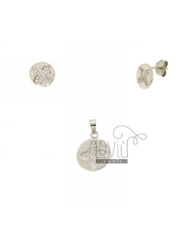 EARRINGS AND PENDANT ROUND...