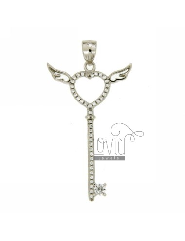 KEY PENDANT WITH WINGS WITH...