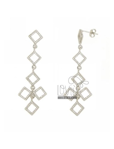 PENDANT EARRINGS RHOMBUS...