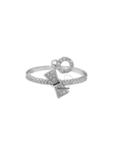 Bow anillo con swarovski...