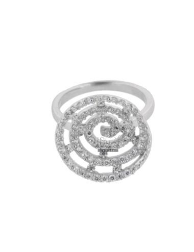 Anillo de espiral en plata...