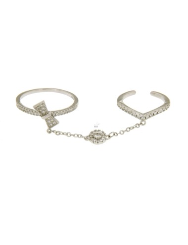 DOUBLE RING WITH BOW AND...