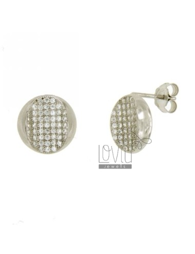 OVAL LOBE EARRINGS IN...