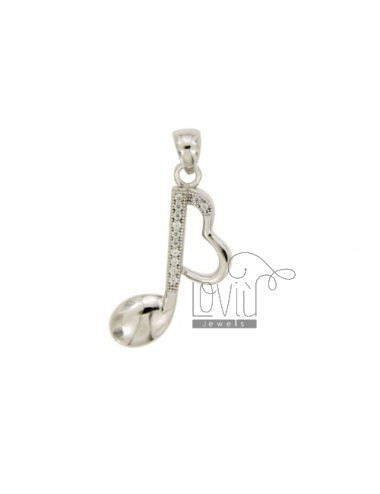 MUSICAL NOTE PENDANT SILVER...