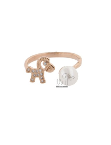RING WITH PEARL AND PONY IN...