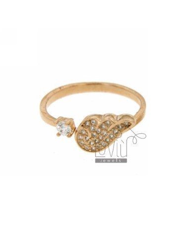RING WITH WING AND CIRCLE...
