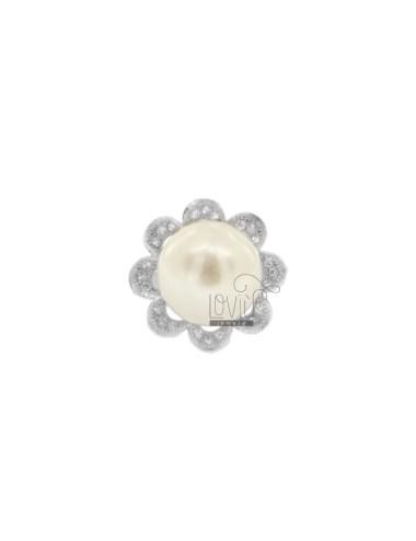 FLOWER Ring mit Perle...