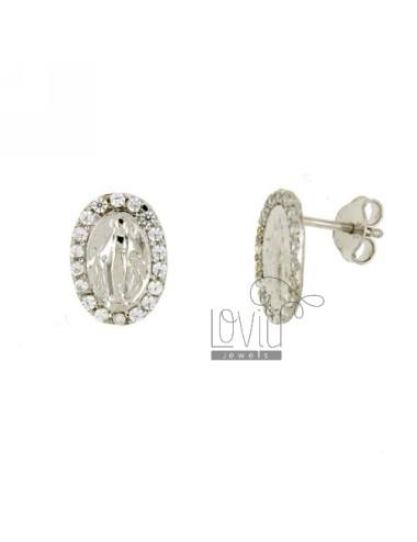 Earrings LOBO MIRACULOUS SILVER RHODIUM TIT 925 ‰ AND ZIRCONIA