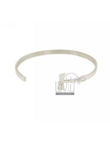 Bangle 4 mm with tao silver...