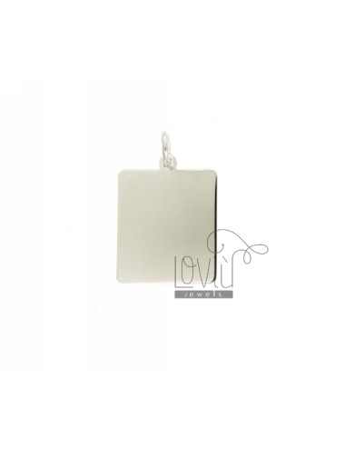 Pendant 24x2 MM RECTANGULAR PLATE 0.5 MM SILVER TITLE 925 ‰