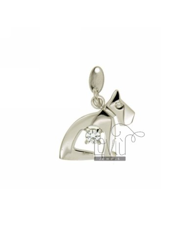 DOG CHARM 19x20 MM IN AG...