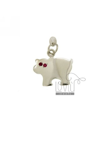 CHARM COW 18x19 MM IN AG...
