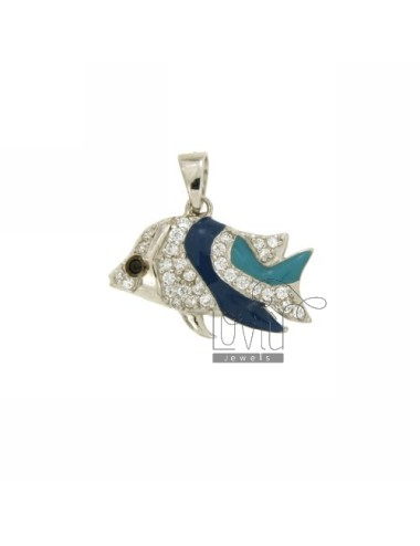FISH PENDANT IN AG TIT MM...