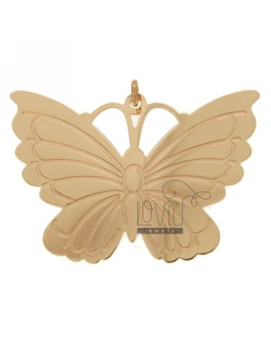 PENDANT BUTTERFLY MM 38X54 SILVER ROSE GOLD PLATED TIT 925 ‰