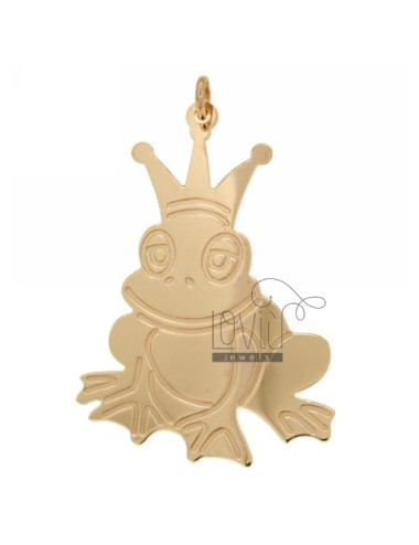 CHARM FROG PRINCE MM 56X37 SILVER ROSE GOLD PLATED TIT 925 ‰