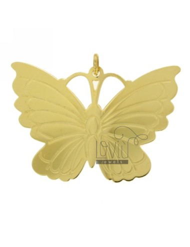 BUTTERFLY PENDANT IN GOLD PLATED 38X54 MM TIT 925 ‰