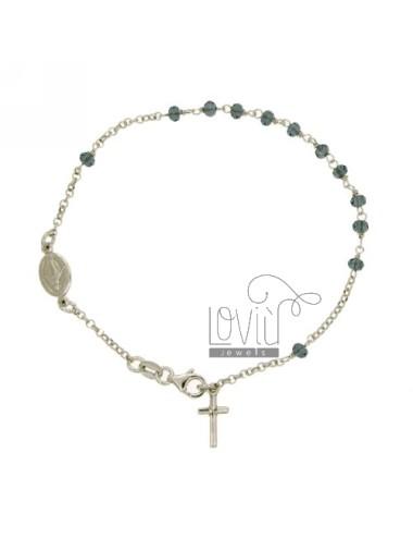 Pulsera de rosario con blue...