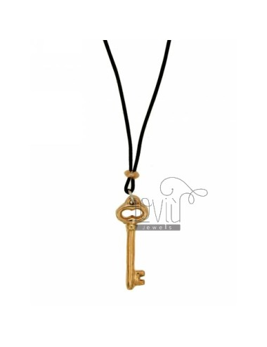 CHARM KEY.CLASSIC SILVER ROSE GOLD PLATED TIT 925 ‰ SILK CERATA