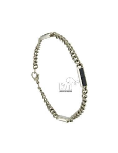 Curb bracelet mm 5 stahl...