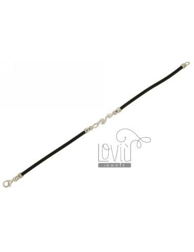 Bracelet in black rubber 3...