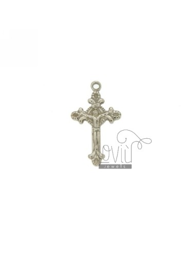 CROSS PENDANT MM 20x12 INVESTMENT CAST POINTS WITHOUT A SHIRT AGAINST SILVER RHODIUM TIT 925 ‰