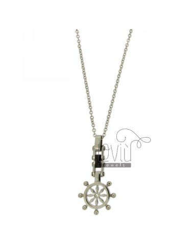 CHAIN CABLE CM 45.50 PENDANT RUDDER 16 MM STEEL AND CERAMIC ZIRCONE