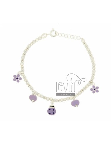 Bracelet with beads 4 mm...