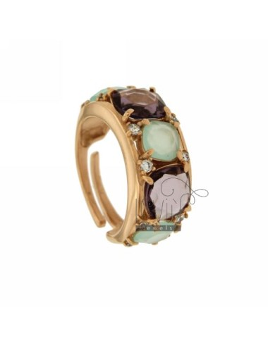 BAND RING WITH STONES 10 MM...