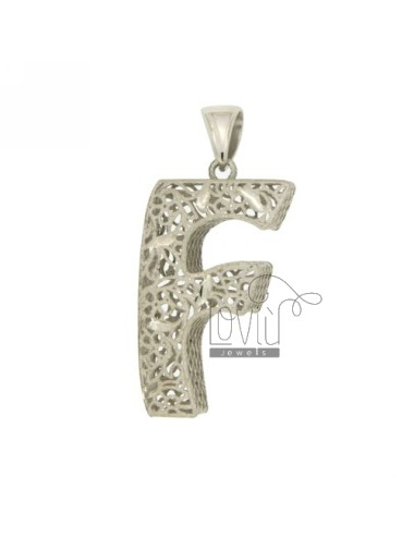 CHARM LETTER F MM SILBER...