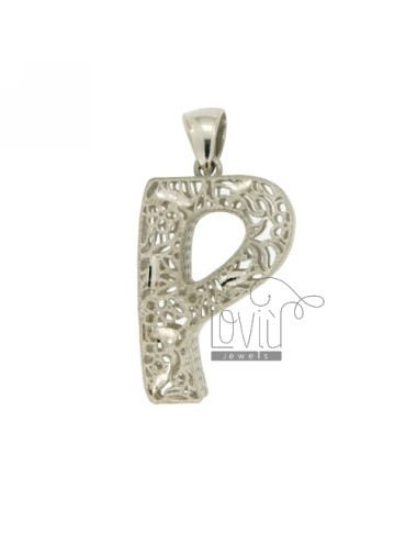 CHARM LETTER P MM SILBER...