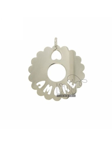 Charm round scalloped mm 35...