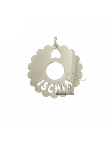 Charm round scalloped 35 mm...