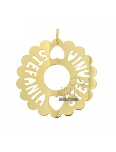 Charm round scalloped mm 50...