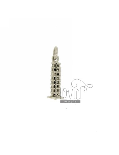 Pendant MONUMENT TOWER OF PISA IN AG TIT microcast RODIATO 925 ‰