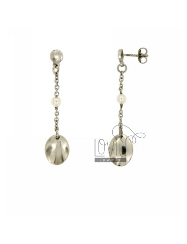 EARRINGS WITH PEARL OVAL...