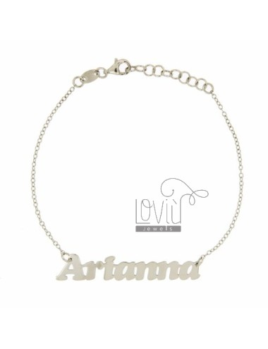 ROLO BRACELET &3918 CM AS NEW ARIANNA SILVER RHODIUM TIT 925 ‰