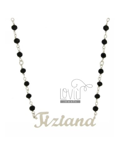 ONYX NECKLACE BALL faceted...